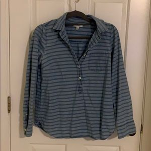 Jcrew Half Button Up Shirt Size 4